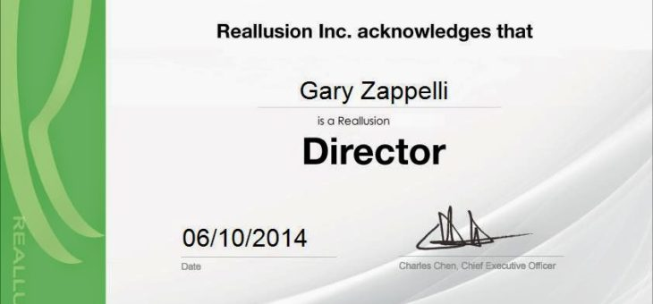 Gary Zappelli Becomes a Certified Director !